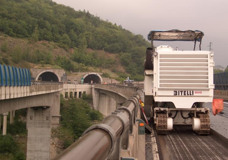 Fresatura viadotto